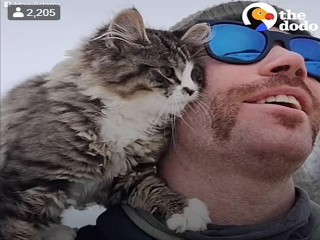 男子在雪地裡健行遇見迷失小貓 竟與自己展開奇妙緣份!