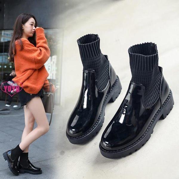 短靴 雪靴瘦瘦靴 馬丁靴 高幫 小皮鞋 英倫風 襪靴