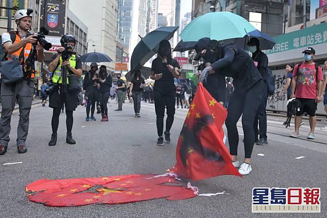 去年爆發反修例示威。資料圖片