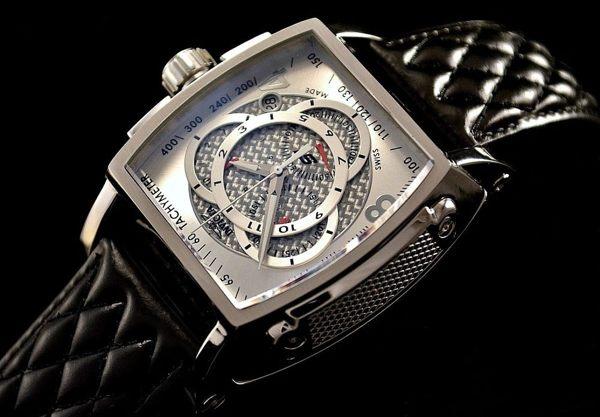 INVICTA賽車系列-經典酒桶造型三眼計時腕錶(銀)