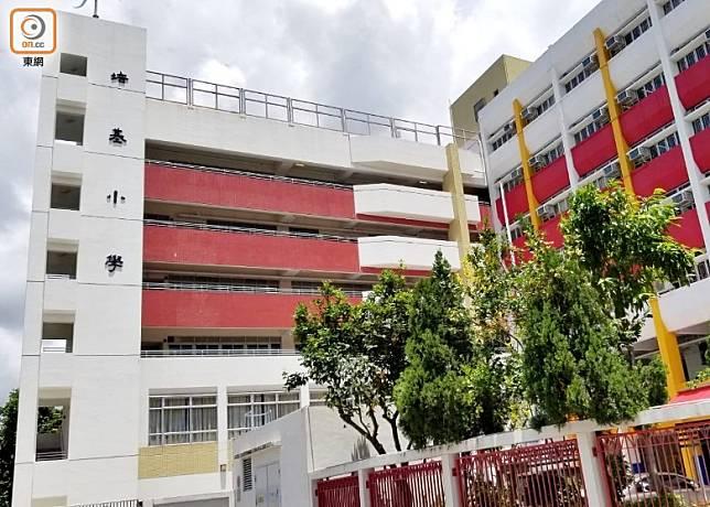 火炭培基小學今日表示有學生家長確診入院。(吳鎮興攝)