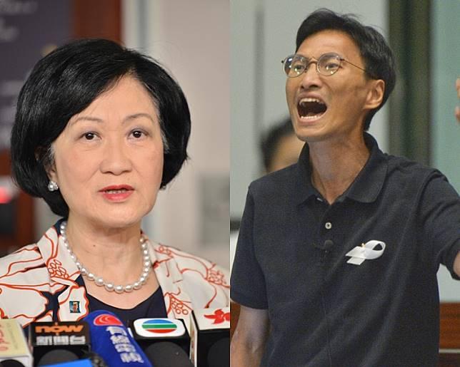 葉劉淑儀(左);朱凱廸(右)。 資料圖片