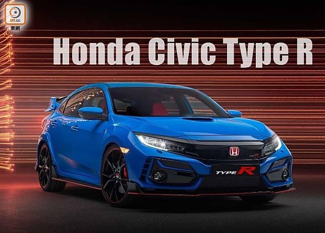 小改款Civic Type R車頭鬼面罩及頭尾泵把位置略作改動,仍是強悍外形。(互聯網)