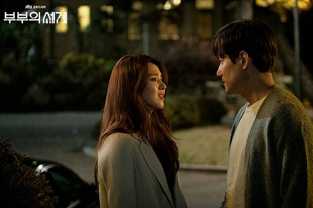 A still from 'The World of the Married.' The series is currently available for free on streaming platform Vidio alongside other popular Korean dramas.