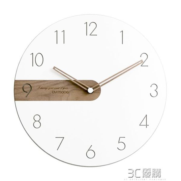 現代簡約北歐輕奢掛鐘客廳臥室藝術家用時鐘創意時尚鐘錶HM 3C優購