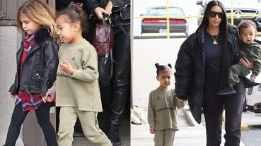 比你穿得更潮!小西北 Yeezy 全套新裝上街 顛覆甜美系童裝刻板印象!