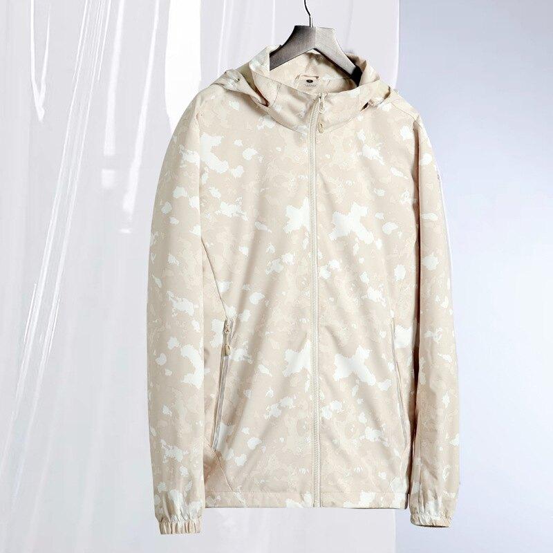 秋冬迷彩沖鋒衣女單層薄款風衣外套戶外休閒防水透氣運動夾克男裝
