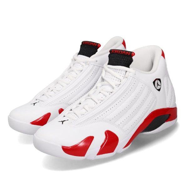 Nike Air Jordan 14 Retro Candy Cane 白 紅 喬丹14代 男鞋 運動鞋【PUMP306】 487471-100