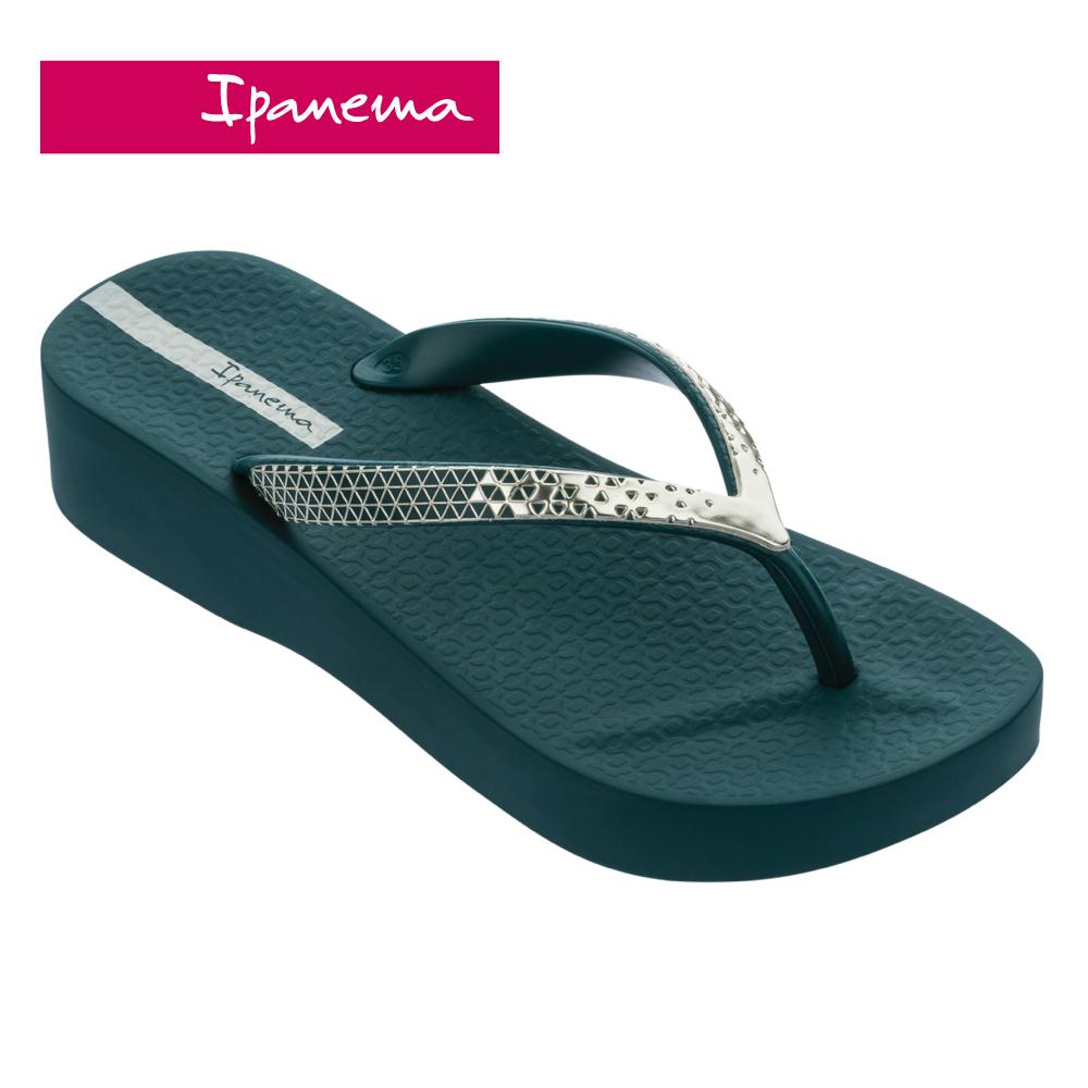ipanema [women] mesh vi plat金屬光澤厚底夾腳拖鞋-深綠(8287224997)