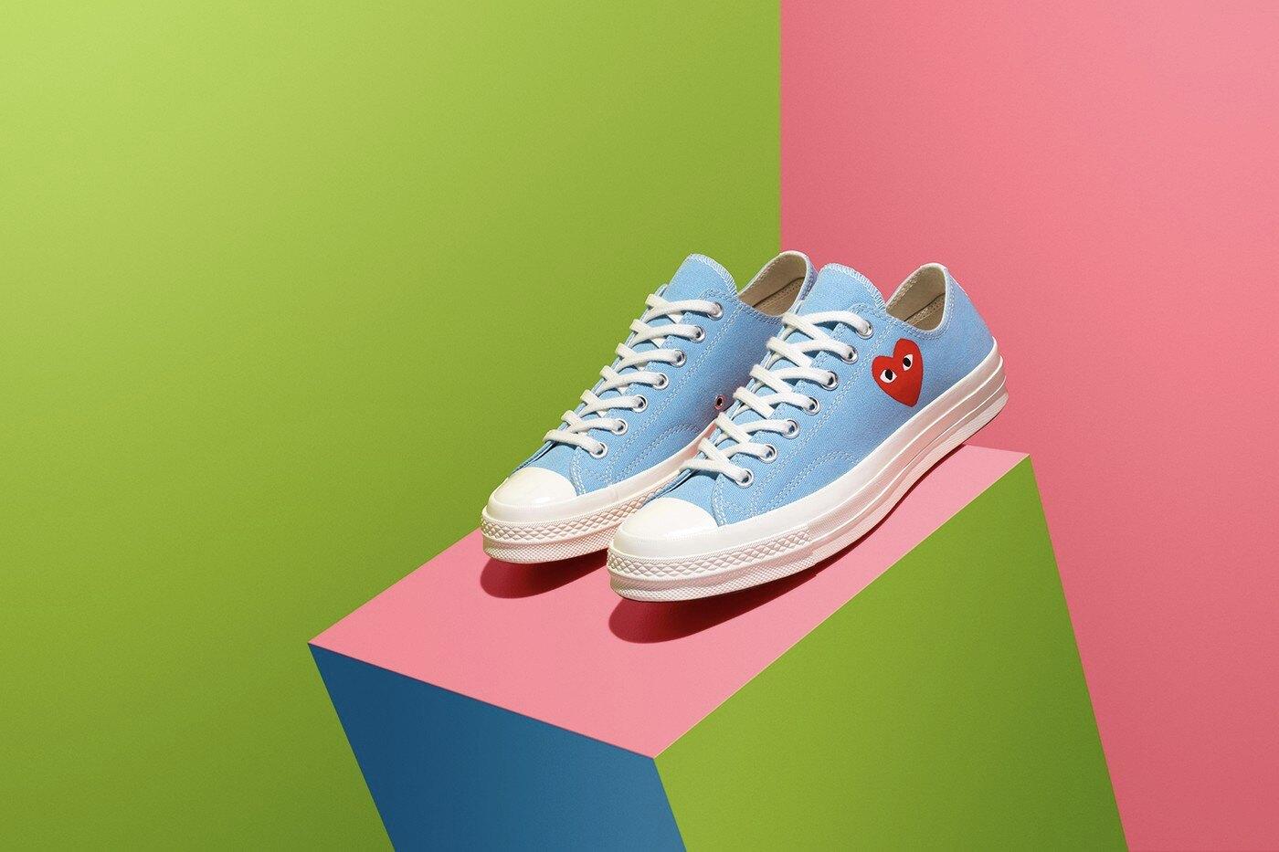 【日本關西海外代購】Converse x CDG PLA 1970S CHUCK TAYLOR 藍 粉藍 低筒 帆布鞋 川久保玲 2020 新款