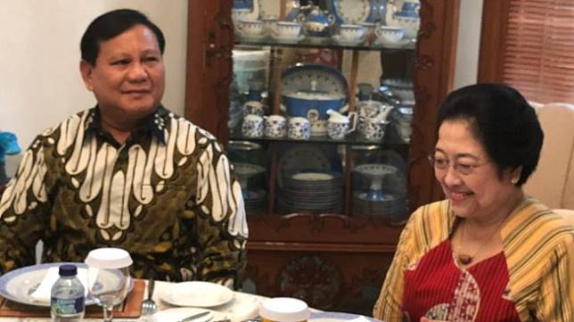 Prabowo Subianto dan Megawati bertemu. (istimewa)