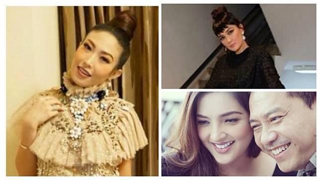 Ayu Dewi, Luna Maya, Anang Hermansyah (KOLASE / INSTAGRAM / TRIBUNWOW.COM)