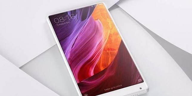 Xiaomi Mi Mix varian warna putih.(GSM Arena)