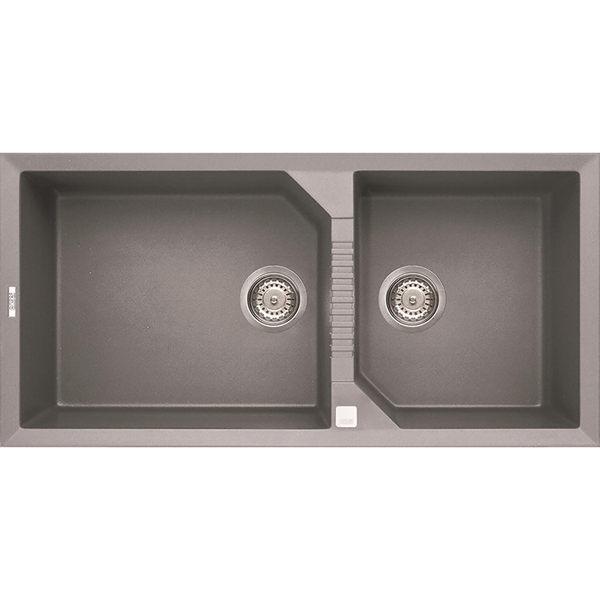 【甄禾家電】BEST貝斯特 Elleci花崗岩含金屬水槽Tekno490(鈦色) 滿2萬送 dayday不鏽鋼垃圾桶一個