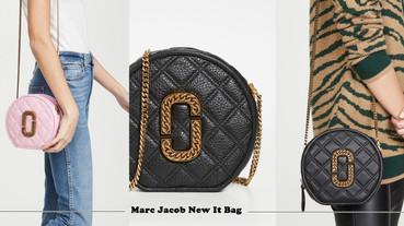 全新Marc Jacobs小圓包,金色鍊帶、雙格線高奢華感,不到NT15,000小資女快收!