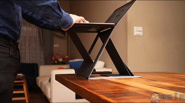 MOFT Z 超輕薄隱形升降筆電支架 開箱動手玩:支援多角度調整、站立模式,隨處都是個人行動辦公室!