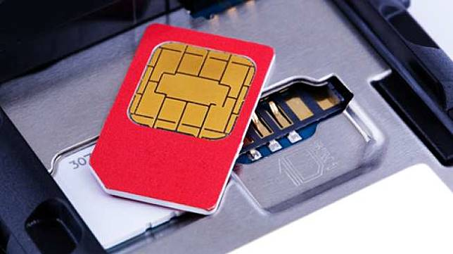 Ilustrasi kartu SIM telepon seluler. [Shutterstock]