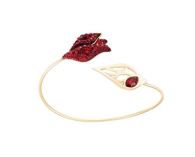 Atelier Swarovski Graceful Bloom紅色水晶花瓣造型手鈪(互聯網)