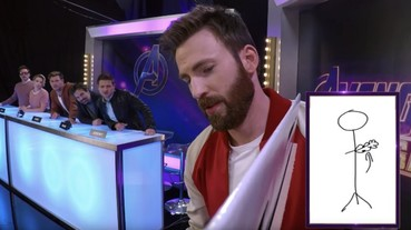 《復仇者聯盟 4》爆笑綜藝節目上線 初代復仇者挑戰「畫圖猜題」 網友:「還是乖乖當英雄吧⋯」