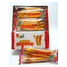 (預購)(任選999出貨)【Yupi】大熱狗造型軟糖(每盒24入)