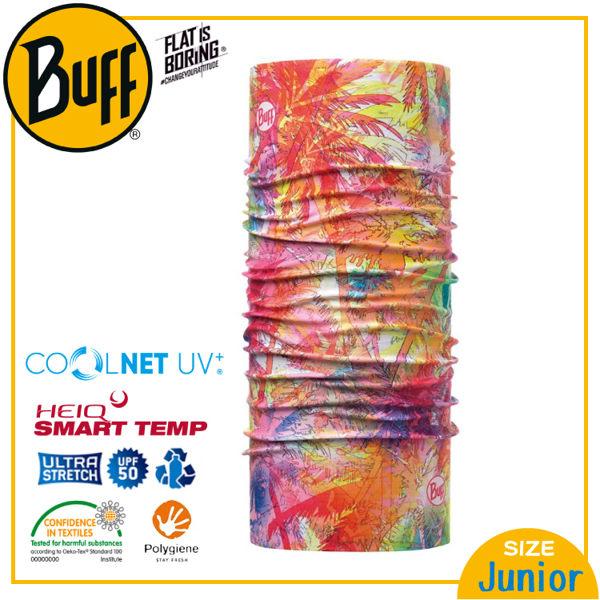 【BUFF 西班牙 青少年 Coolnet 抗UV頭巾 煙花綻放】120085/圍脖/帽子/口罩/圍巾/吸溼排汗