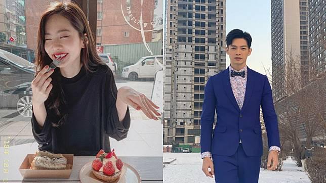 曾之喬(左)甜嫁辰亦儒(右)。(圖/(右)翻攝自曾之喬Instagram、(左)翻攝自辰亦儒Instagram)