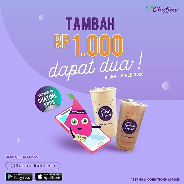 Chatime Promo Tambah Seribu Dapat 2 Minuman Chatime Line Today