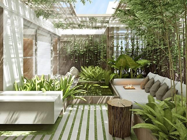 Desain Taman Dengan Barang Bekas  rimbunnya 7 desain taman tropis teduhkan rumah di perkotaan