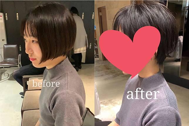 ▲櫻花妹剪髮前後的照片讓網友們直呼「變了個人」!(合成圖/翻攝 @bunnypuppysunny 推特)