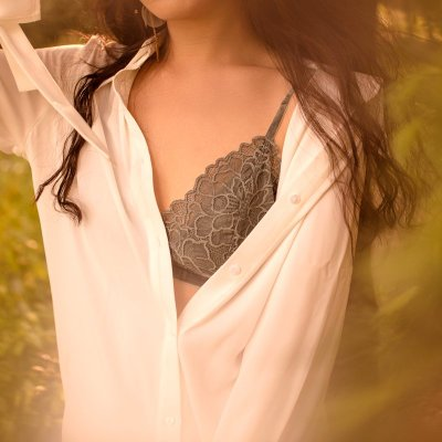 真絲法式三角杯蕾絲內衣女無鋼圈文胸性感舒適透氣桑蠶絲胸罩薄款 法式 蕾絲