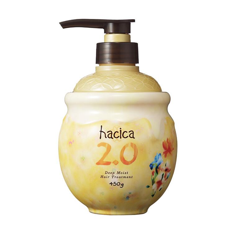 【olina】日本hacica八和花-深層潤澤護髮乳2.0 (450g) *日本秋田縣生蜂蜜100%配合 *日本產植物有機成分配合 *8種日本產和花精華 *日本94%以上沙龍設計師推薦! 《Hacic