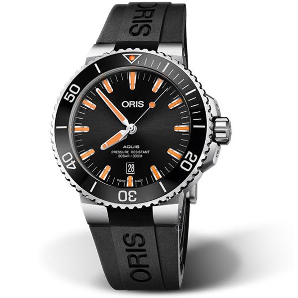 Oris豪利時AQUIS時間之海潛水機械錶 0173377304159-0742464EB
