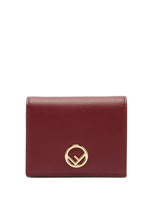 Fendi - Fendi's compact burgundy F is Fendi wallet is ideal for slipping into streamlined bags. It's
