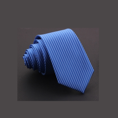 拉福 斜紋7cm中寬版領帶拉鍊領帶 (藍色)