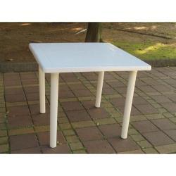 BROTHER 兄弟牌 歐式風情~白色塑膠方桌(90cm)~物美價廉~居家庭院休閒必備