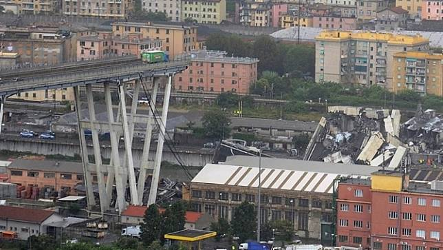 มอเตอร์เวย์ ในเมืองเจนัว อิตาลียุบตัว มีผู้เสียชีวิต 22 ศพ