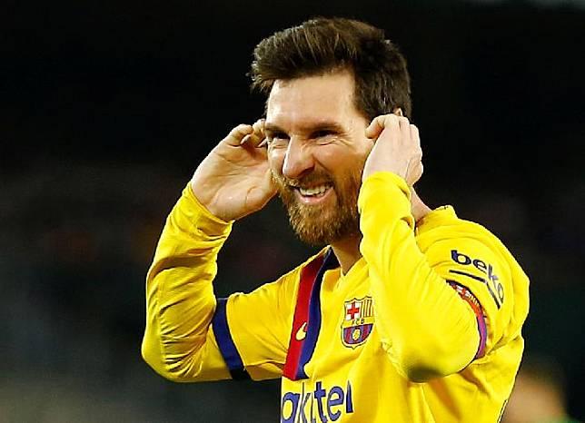 Pemain Barcelona Lionel Messi. Reuters