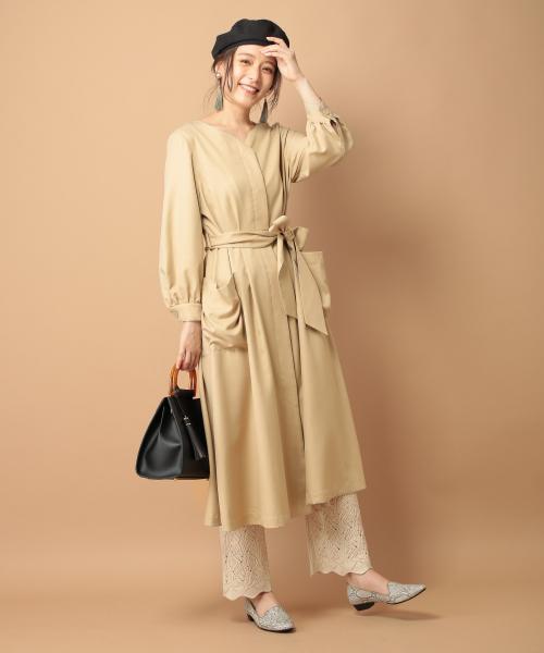 連身裙+蕾絲長褲