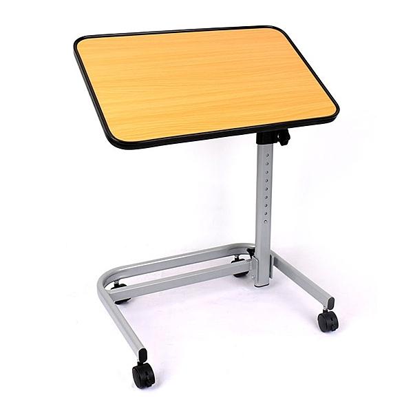 旋轉桌板,輕鬆調整角度n2CM加厚木紋桌板,軟塑料包邊n桌面高度多段調整n加固煞車,簡便收合