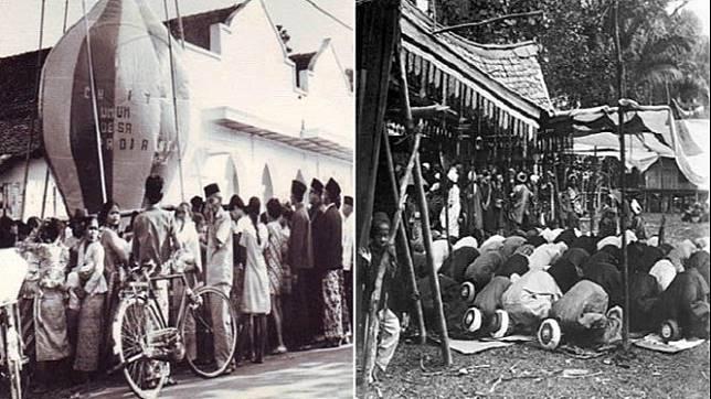 Begini Potret Suasana Lebaran Zaman Dulu di Indonesia