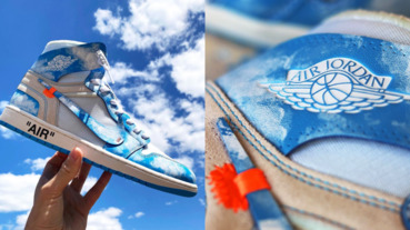 世界唯一的你!Off-White x Air Jordan 1「絕美天空藍」驚艷亮相,網友:「這雙根本藝術品!」