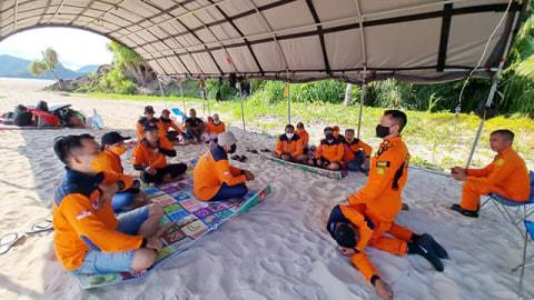 BPBD Kabupaten Sitaro dan Tim SAR Tahuna Latihan Bersama Penanganan Bencana