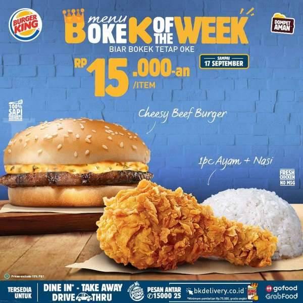 Promo Burger King Periode 15 17 September 2020 Harga Mulai Rp 5 000 Kontan Co Id Line Today