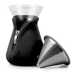 Driver北海道咖啡濾杯組600ml-時尚黑