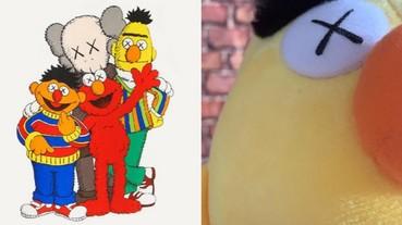 大家熟悉的 Ernie 和 Bert 回來了!KAWS 曝光《Sesame Street》毛絨公仔