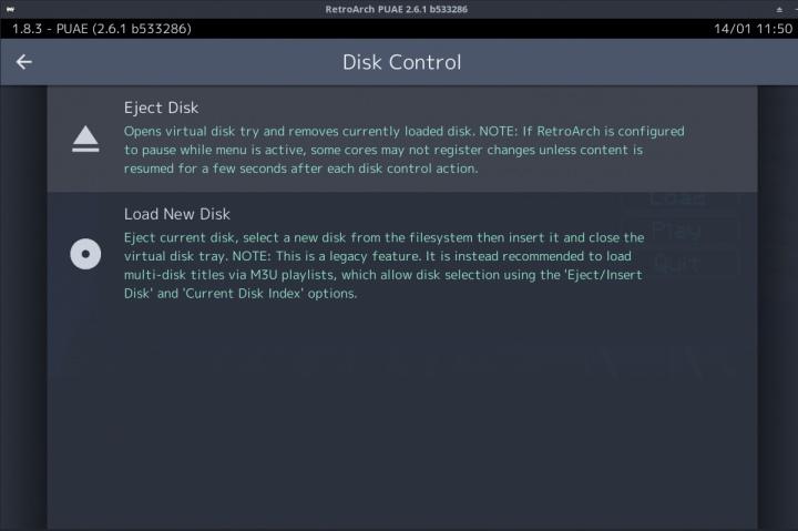 碟片控制選單現在會根據當下狀態顯示進片或退片。