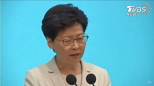 林鄭月娥。圖/TVBS