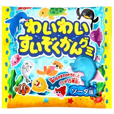 日本原裝進口 可愛水族生物造型 清爽微甜蘇打風味 大人小孩都愛的好滋味