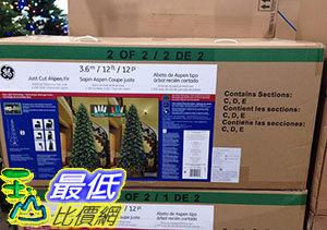 [COSCO代購] 12' LED X'MAS TREE 12 LED 聖誕樹 付無線遙控器 約365公分高 _C999096