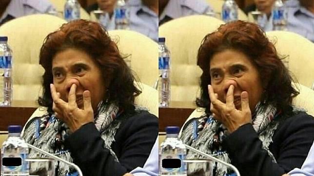 Viral Menteri Susi Pudjiastuti Ngupil, Amankah bagi Kesehatan?